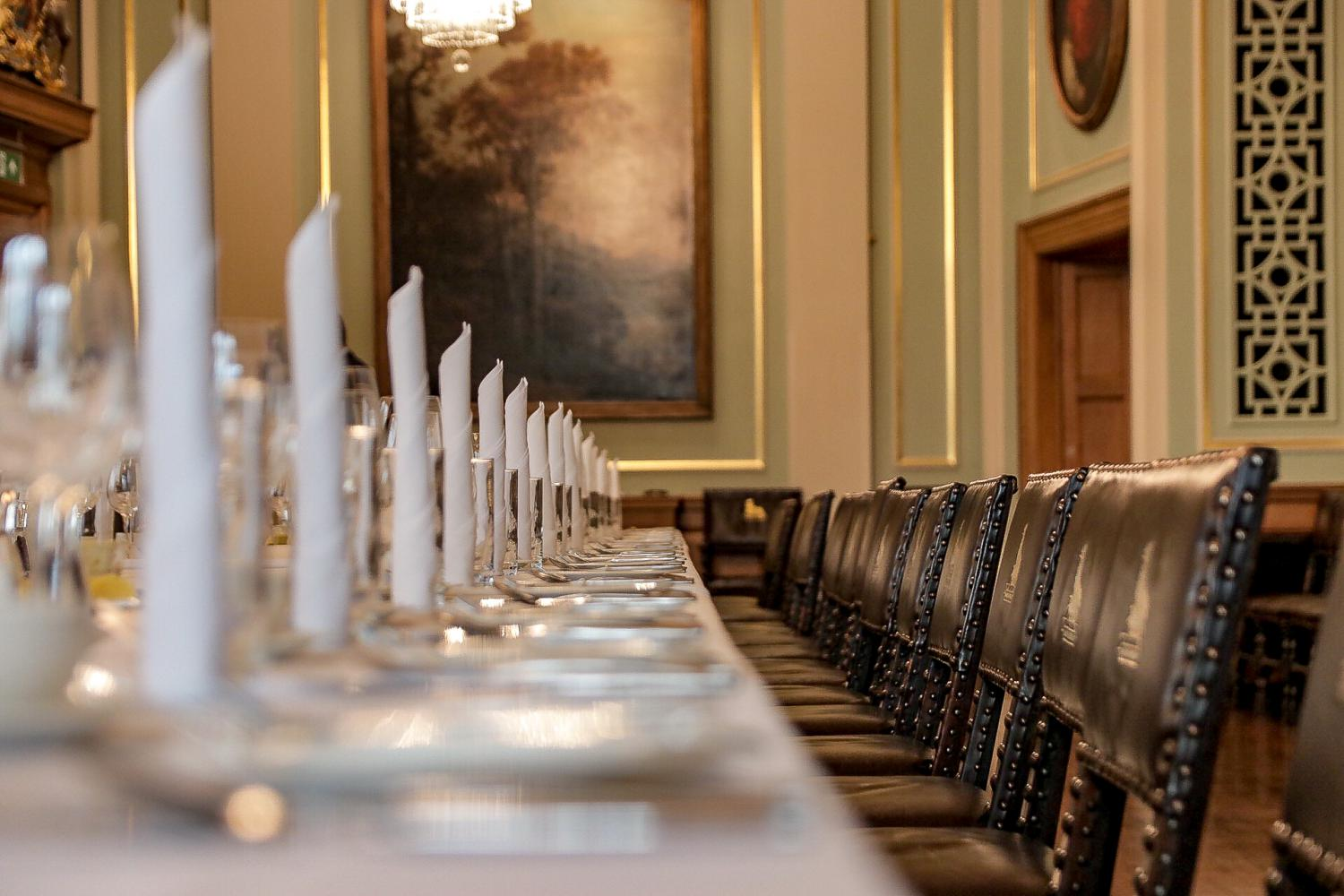 The Livery Hall - Table Set Up